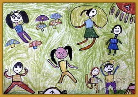 画属于油画棒画,大小为317x450像素,作者秦浩源,来自河南省实验幼儿园