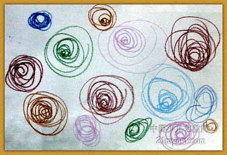 >> 盛开的玫瑰花儿童画   盛开的玫瑰花儿童画属于油画棒画,长308px