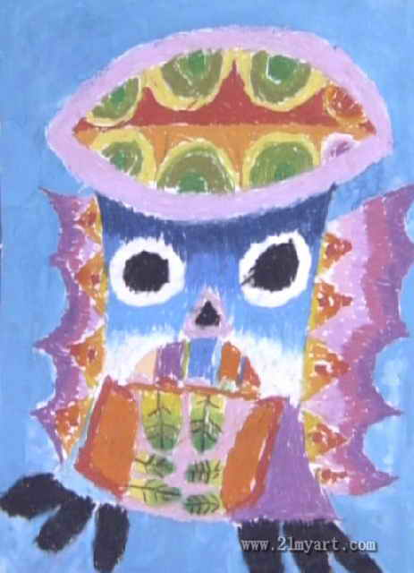 猫头鹰儿童画 三 8幅 第7张