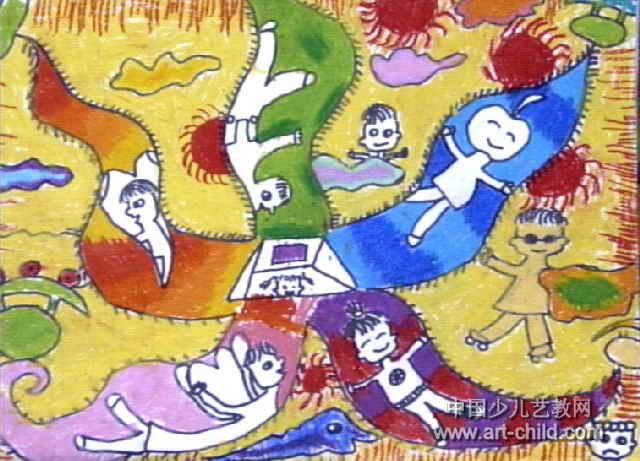 海星船儿童画作品欣赏
