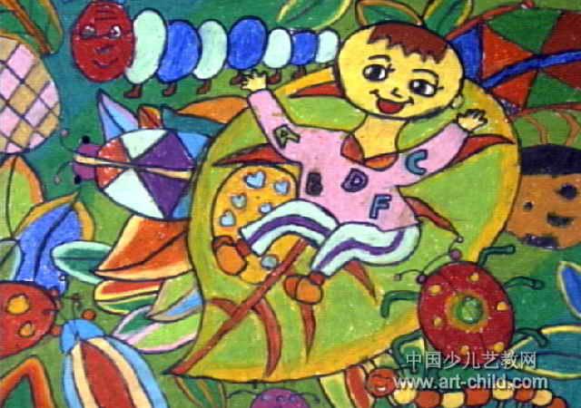 和昆虫说悄悄话儿童画图片
