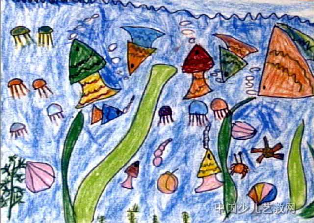 海底世界儿童画(二)8幅(第6张)