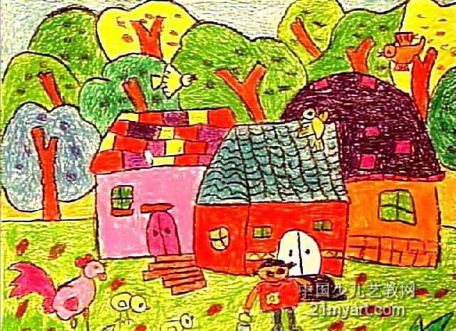 美丽的家园儿童画15幅(第2张)图片