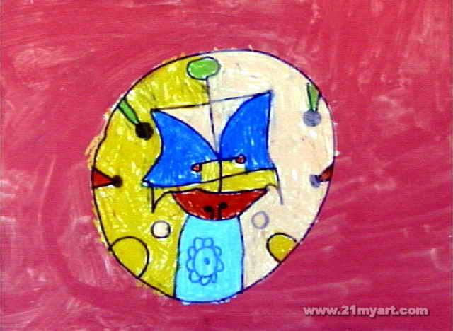 脸谱儿童画 二 8幅 第7张