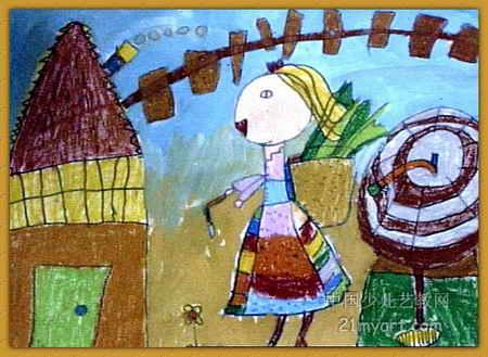 外婆的童年儿童画
