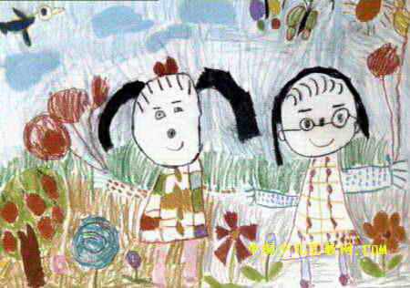我和妈妈儿童画6幅(第5张)