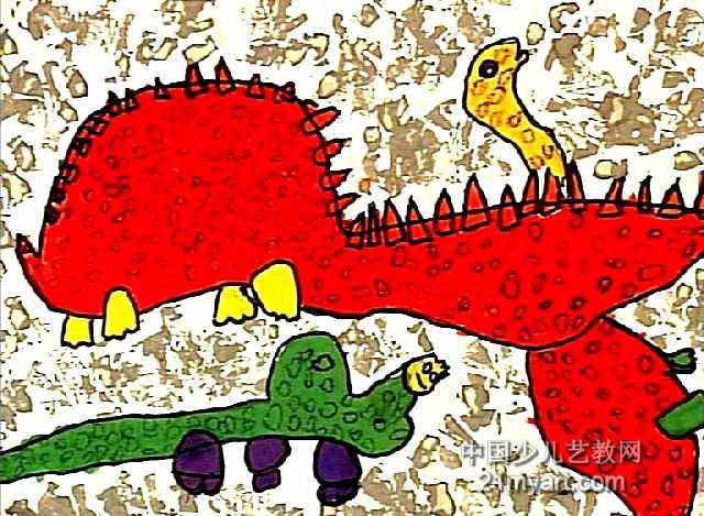 恐龙世界儿童画 一 8幅