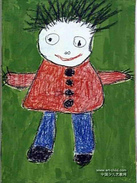 我长大了儿童画,此幅油画棒画尺寸为640x480像素,作者金阳,来自新乡市新华区回民幼儿园,男,4岁.