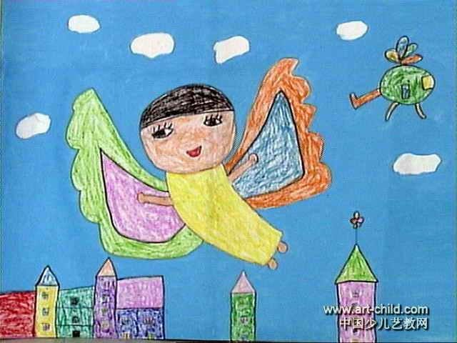 我做了一个梦油画棒儿童画