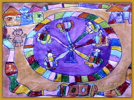 我爱我的幼儿园儿童画2幅