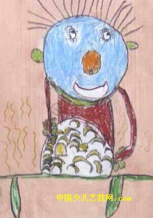 幼儿园的饺子真好吃儿童画