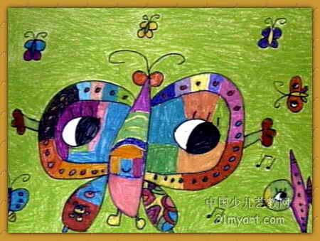 蝴蝶公主儿童画2幅