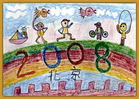 儿童油画棒简笔画