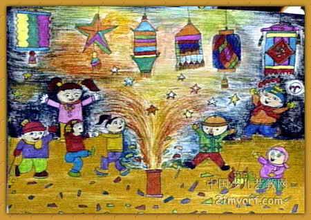 元宵节类儿童画 圣诞节儿童画大全