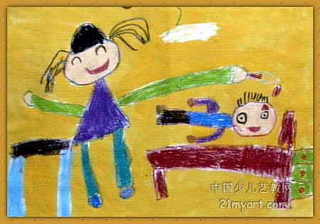 妈妈给我点眼药儿童画