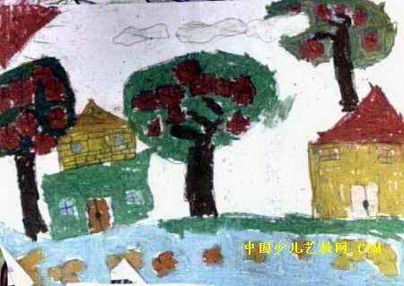 风景儿童画