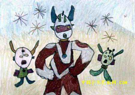 公主儿童画作品欣 模特儿装儿童画