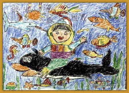 儿童画大全海底世界; 儿童画简笔画海底世界图片