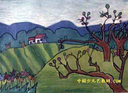 美丽的春天儿童画15幅(第3张)