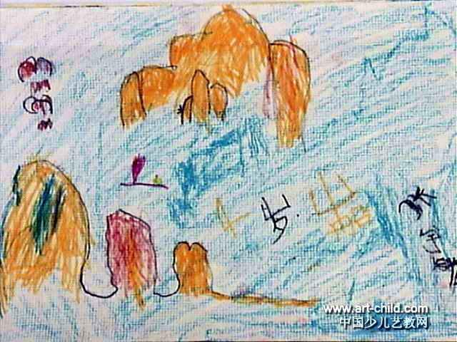 山船儿童画作品欣赏