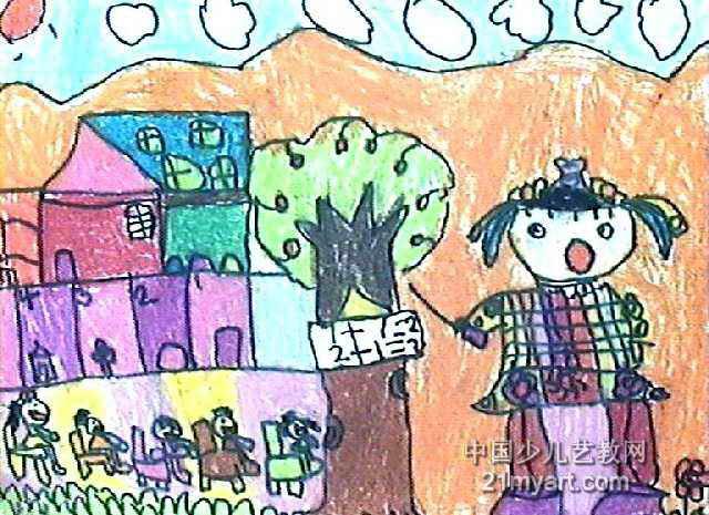 我当小老师儿童画作品欣赏