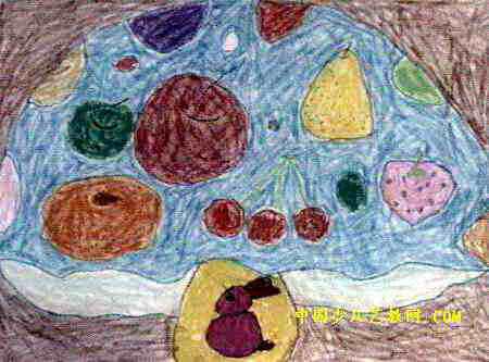 蘑菇房子儿童画属于油画棒画,大小为333x450像素,作者袁刘贺,来自舞钢