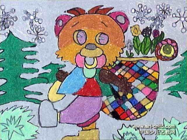 可爱的小熊儿童画5幅 第3张