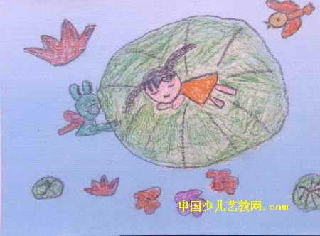 快乐的船儿童画