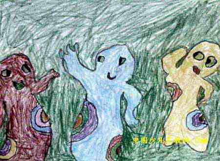 影子儿童画3幅