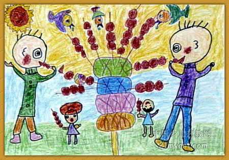 足球动作儿童画展示图片
