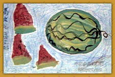 西瓜儿童画