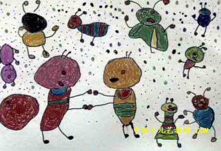 蚂蚁大战儿童画4幅 第3张