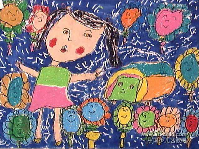 排污处理厂儿童画图片
