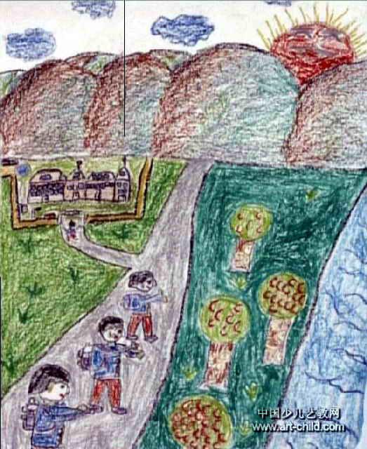 风景真美儿童画作品欣赏