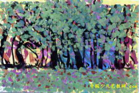 树林儿童画6幅 第2张