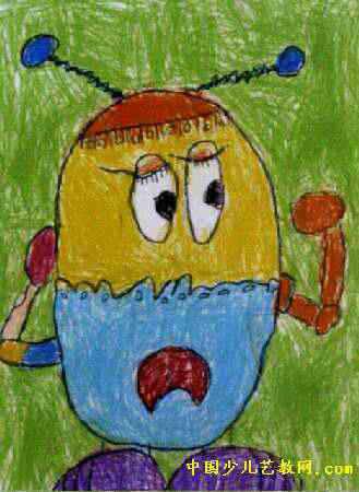 机器人儿童画15幅 第4张