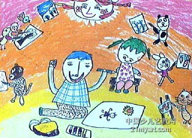我们都爱画画儿童画作品欣赏