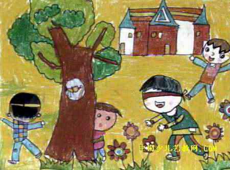 游戏儿童画8幅