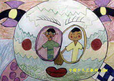 眼睛儿童画3幅
