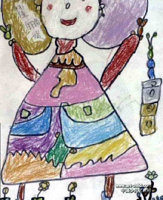 美丽的公主儿童画4幅