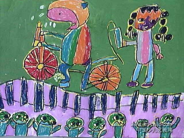 猴子骑车表演儿童画图片图片
