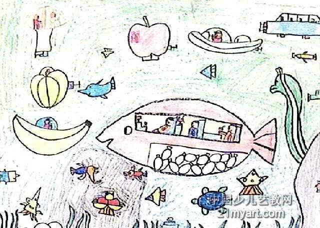 海底真奇妙油画棒儿童画