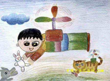 我发明的飞行器儿童画
