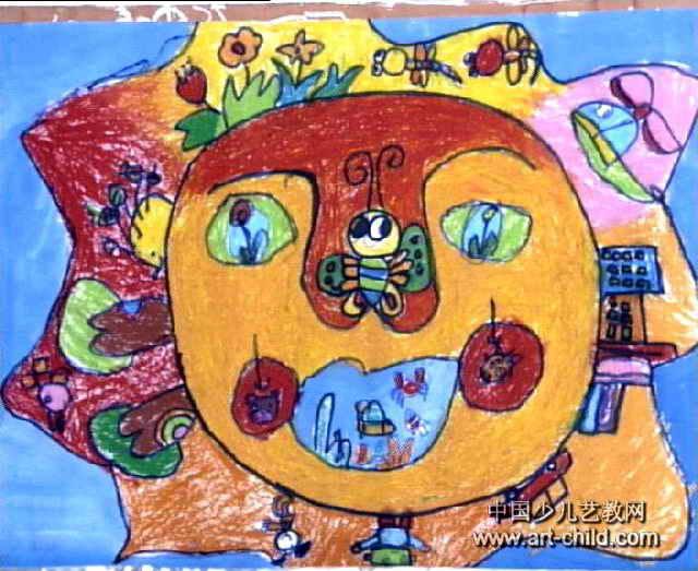 马的彩色装饰画_我心中的太阳儿童画7幅