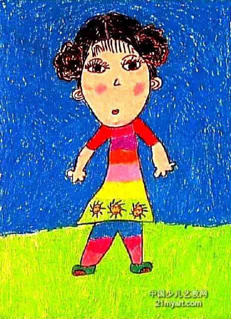 自画像儿童画13幅 第11张