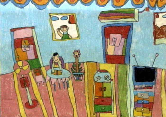 我的家儿童画 二 8幅