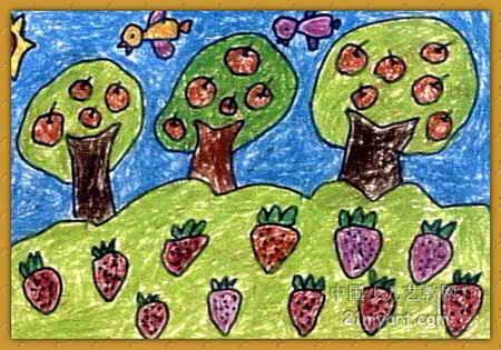 秋天来了儿童画2幅