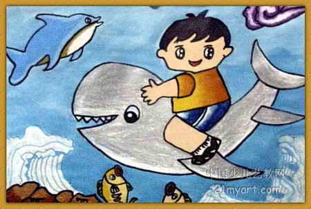 夏天的图画儿童画-姐妹 沙滩 乐 690x517 - 114kb - jpeg 海边的