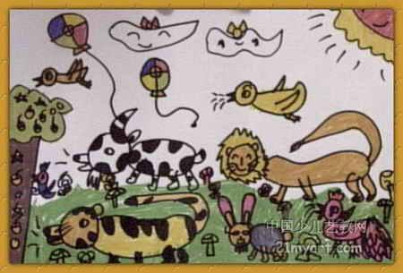 动物世界儿童画10幅(第3张)图片