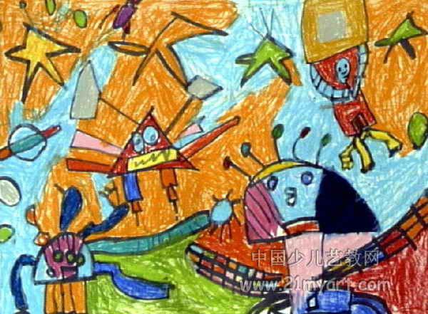 机器人儿童画15幅(第3张)